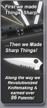 First we made things sharp, then we made sharp things!