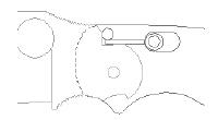BOLT ACTION LOCK Mechanizm blokujący zaprojektowany przez Blackie Collinsa, składający się ze sprężynowej śruby, która zaczepia się o rampę na trzpieniu ostrza, aby zablokować ostrze w pozycji otwartej.