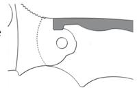 NOTCH JOINT Mechanizm nie blokujący- ostrze utrzymywana jest przez nacisk sprężyny na nacięcie na trzpieniu noża.